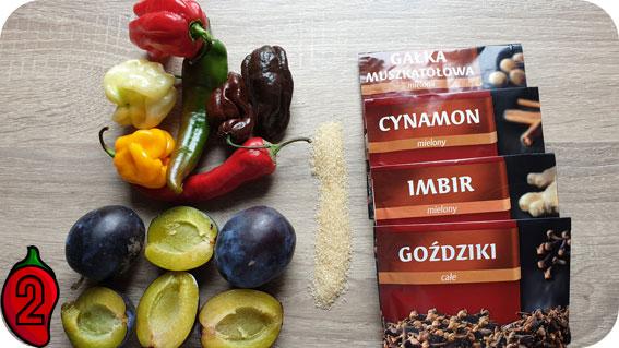 śliwka korzenny chiliout składniki na sos