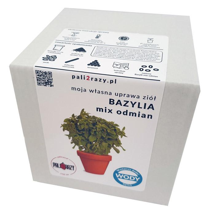 moja domowa uprawa zestaw do uprawy ziół bazylia mix odmian
